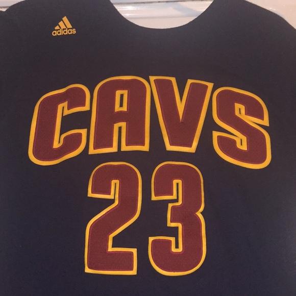 newest 51697 375a0 Adidas Cleveland Cavaliers T-shirt Lebron James
